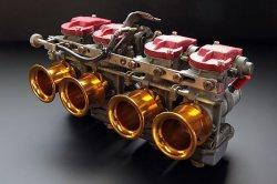 画像3: 【503】CRキャブSボディ用 アルミショートファンネル ゴールド