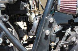 画像3: 【553】リヤマスター取り付け用ブラケット クロムメッキ Z400FX逆車 リヤディスク化