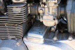 画像3: 【554】Z400FXセルモーターカバー ロゴ入り アルミ バフ仕上げ